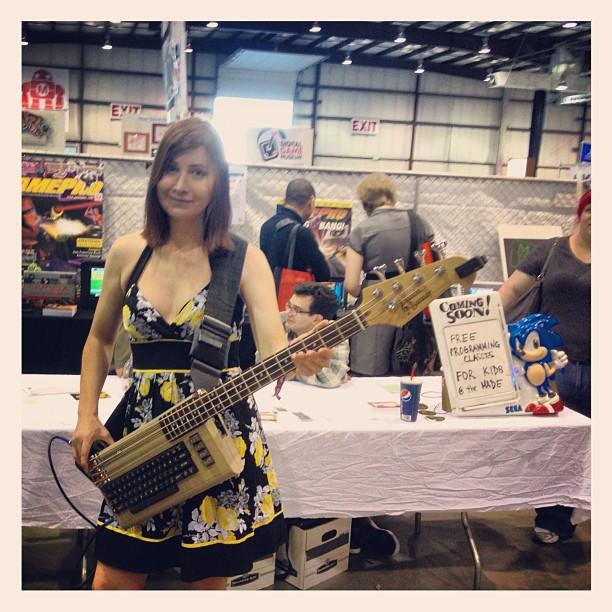 Jeri ellsworth commodore 64 bass keytar