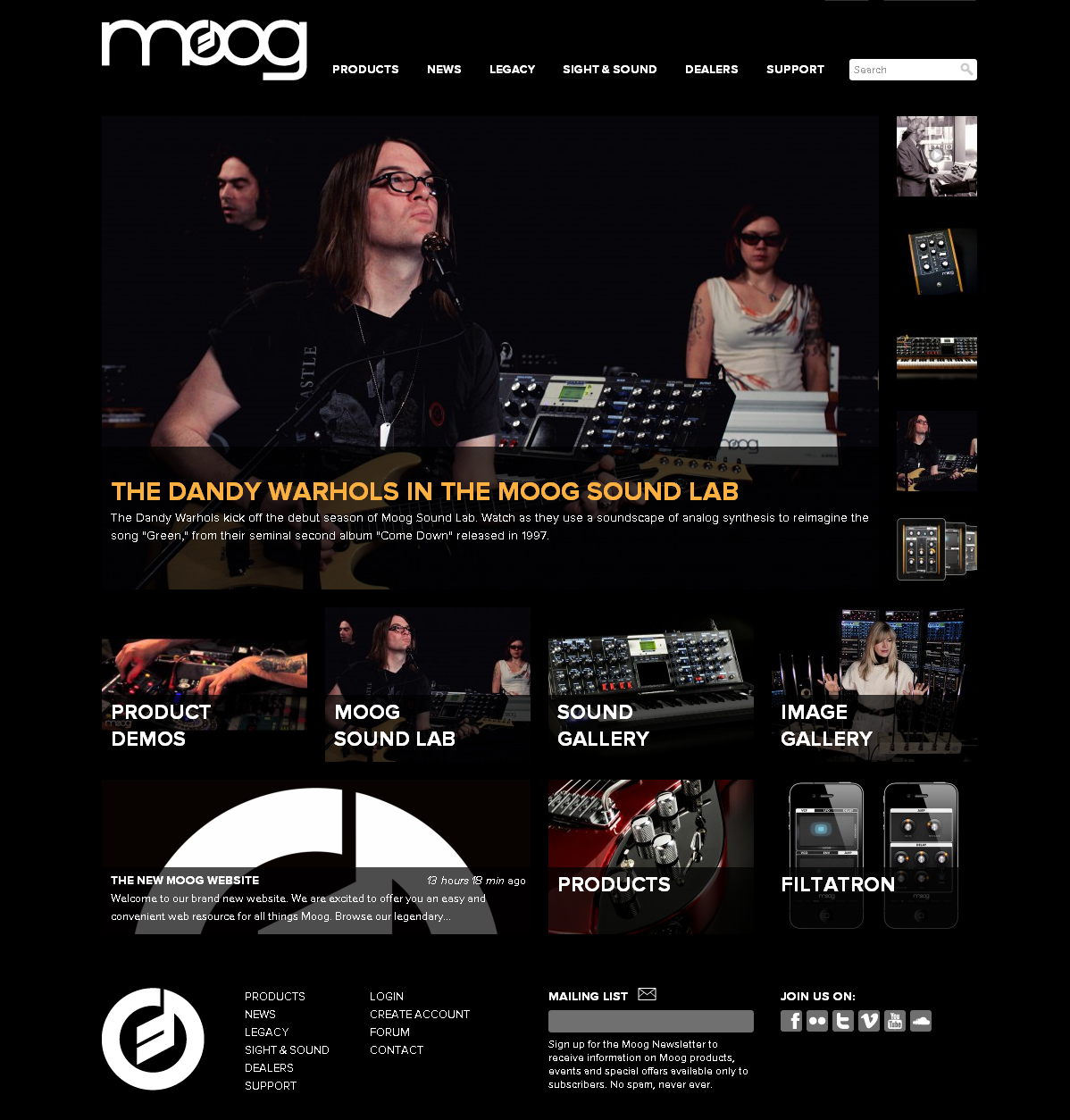Moog website