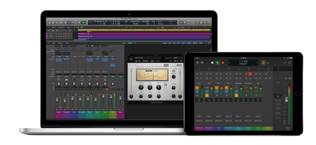 Logic audio interface control mac ipad