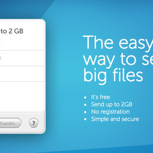 Thumb wetransfer send large files via email
