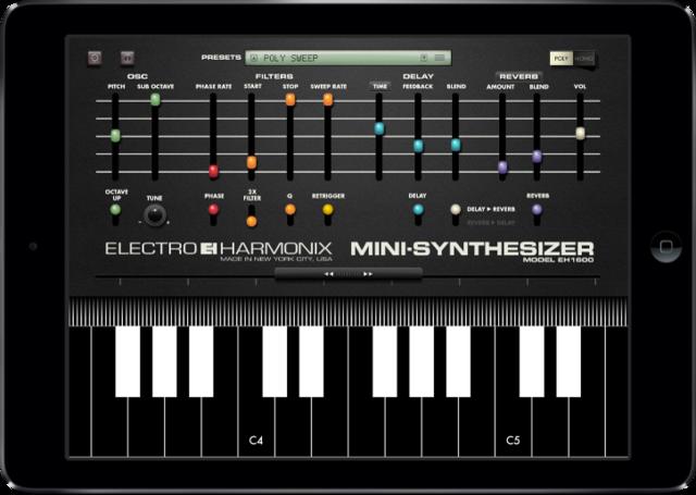 Mini synthesizer app