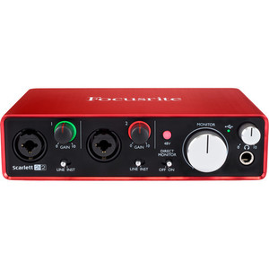 Focusrite Scarlett 2i2 USB 錄音介面 (2代)