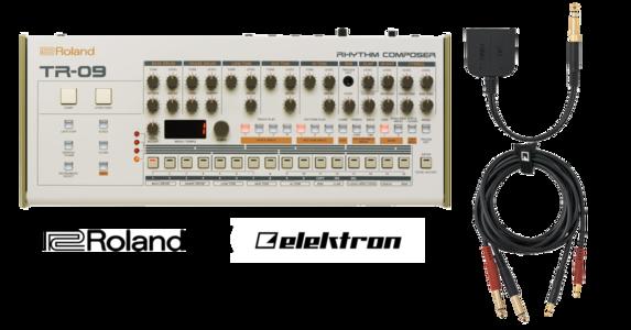Roland TR-09 + Elektron Audio/CV 分接線套件包