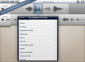 Thumb free audio editor for ipad iphone
