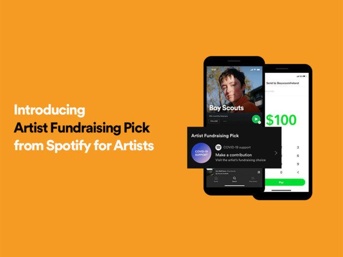 Spotify artist fundraising pick 1400x1050 1 696x522