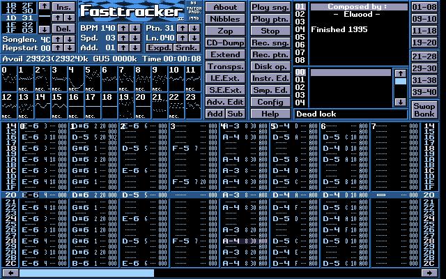 Fasttracker 2 screenshot