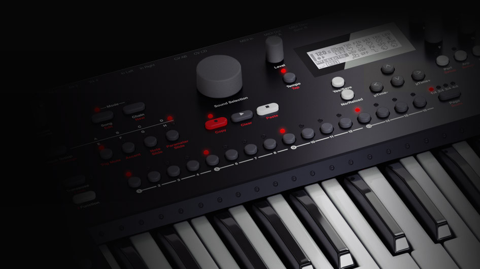 Elektron analog keys four voice synthesizer