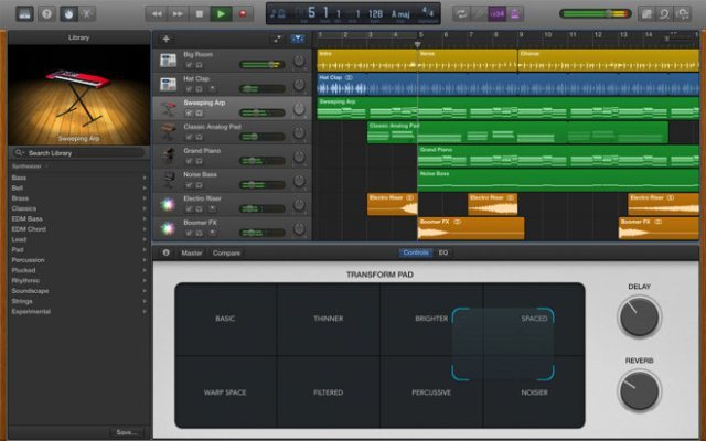 Camel audio alchemy garageband