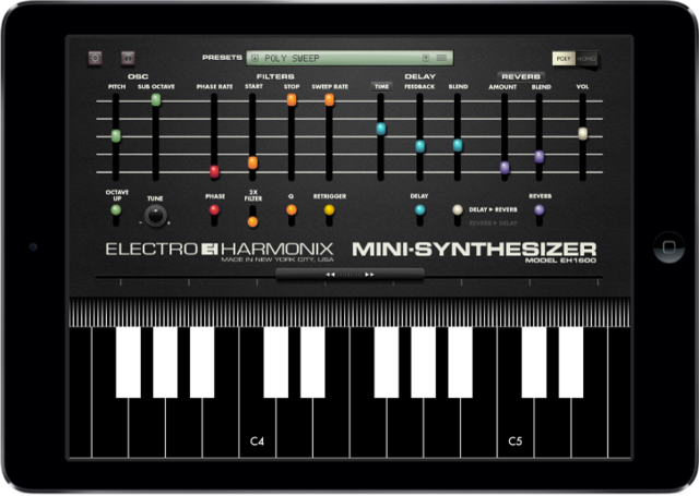 Mini synthesizer app