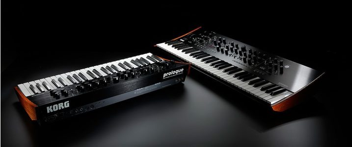 Thumb korg prologue analogue synthesizer