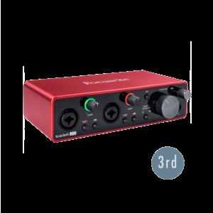 Focusrite Scarlett 2i2 USB-C 錄音介面 (3代)