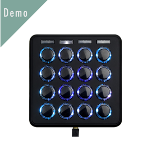 DJ TechTools MIDI Fighter 3D MIDI 控制器 黑色 Demo 品