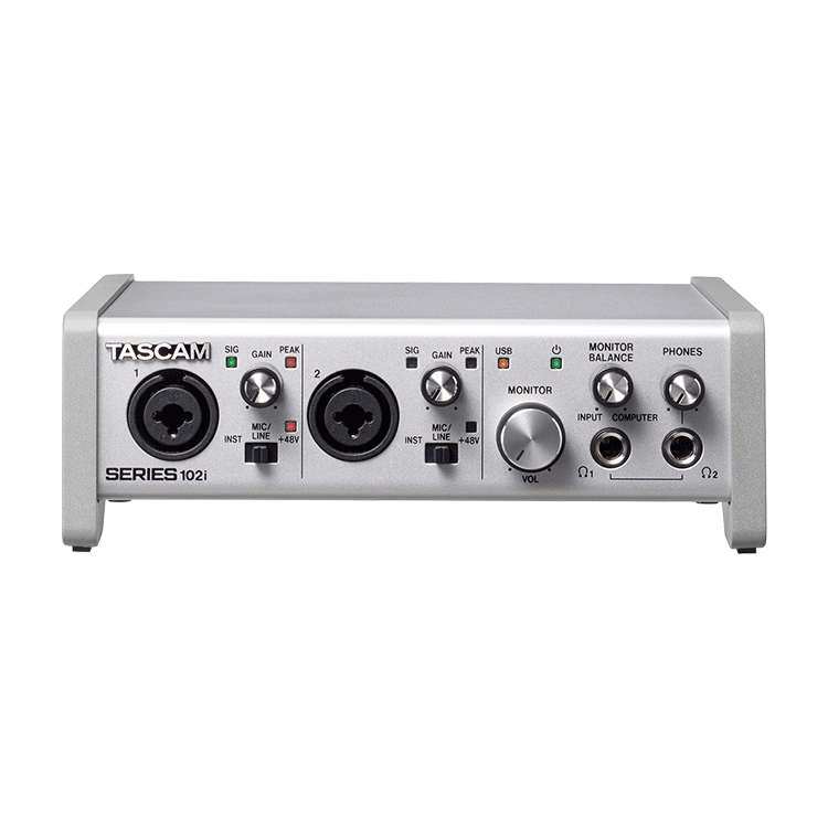 Tascam 0000 series 102i w front2