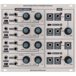 Sputnik Modular QUAD FUNCTION & TRIGGER SOURCE