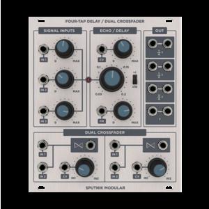Sputnik Modular FOUR-TAP DELAY / DUAL CROSSFADER