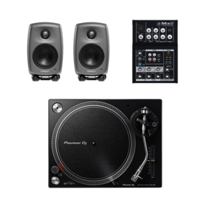 Pioneer PLX-500 黑膠唱盤 + Genelec 8010A 監聽喇叭 送混音器及線材